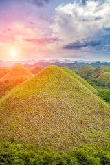Poster Hill Beautiful Chocolate Hills in Bohol, Philippines