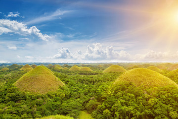 Photo sur cadre textile Colline Beautiful Chocolate Hills in Bohol, Philippines