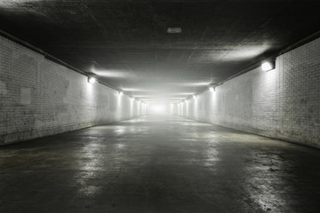 Acrylic Prints Tunnel Empty tunnel with light