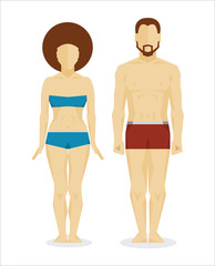 White man and woman bodies