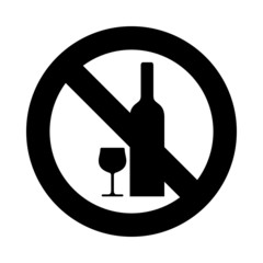 No drink icon great for any use. Vector EPS10.