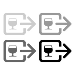 wine glass sign icon great for any use. Vector EPS10.