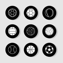 Football icons set great for any use. Vector EPS10.