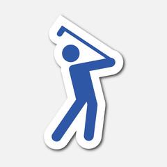 Logo golfeur. Golf.