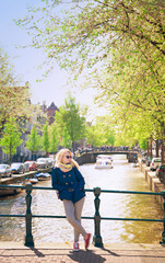 sunny day in Amsterdam