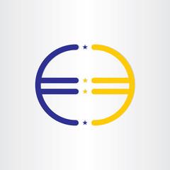 european union euro money line symbol