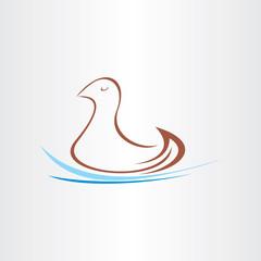 stylized duck in watter design