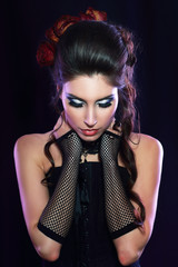 vampire victorian style woman