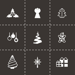 Vector Cristmas trees icon set