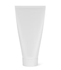 White cosmetic tube isolated on white background