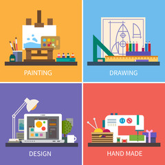 Creativity. Vector flat illustrations