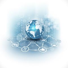 communication world & technology business  flow motion