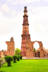 Printed roller blinds Delhi Qutub-Minar Tower, Delhi, India