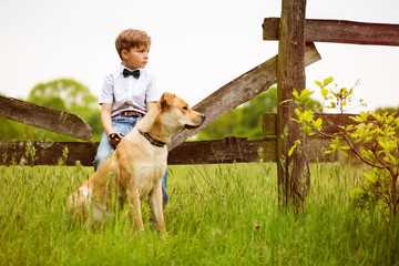 Child with his Dog