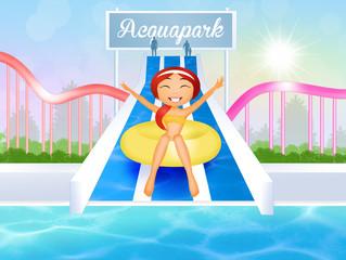 girl in water park