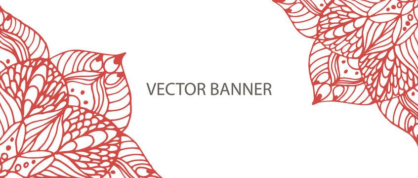 Flower mandala banner