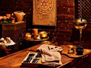Ayurvedic spa massage still life