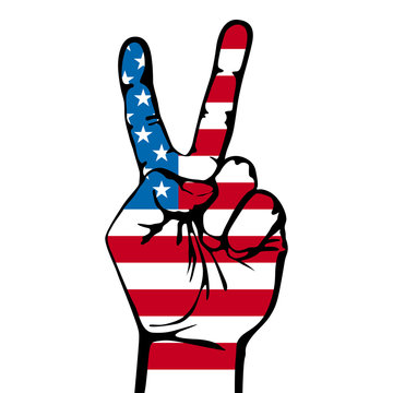 America victory finger , t-shirt graphics, vectors