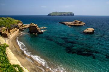Isola di Santo Stefano Vista da Cala Nave Ventotene