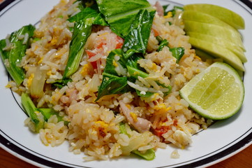 fried rice with Chinese kale