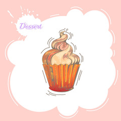 Cupcakes. Poster