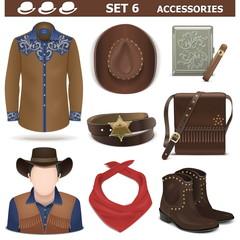 Vector Male Accessories Set 6