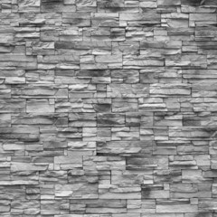 Slim stones brick wall background.