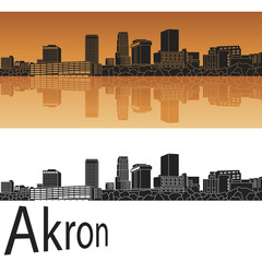 Akron skyline