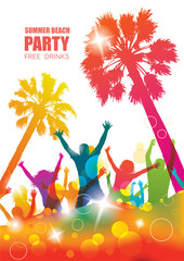 Party background with happy young people.