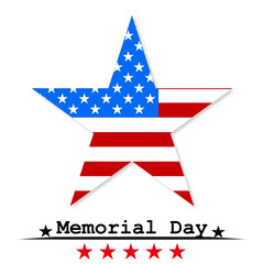 Star Flag USA Memorial Day vector illustration