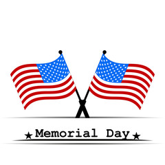 Flag USA Memorial Day vector illustration