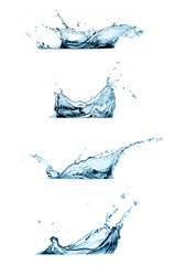 Set of Water Splashes Isolated on White