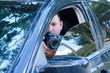 Private investigator stakeout photo documentation