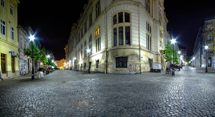 BUCHAREST, RO, MAY 2015: Old Center at Night.