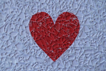 Broken glass and heart