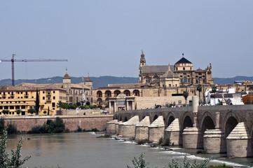 Roman bridge in the Historic centre of Cordoba, Andalusia, Spain