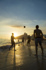 Ipanema Beach Rio Brazilians Playing Altinho