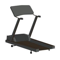 Sports Trainer. Simulator. Isolated Vector Illustration.