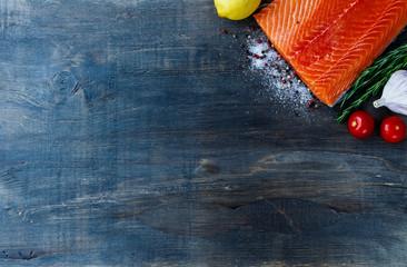 Salmon fillet .
