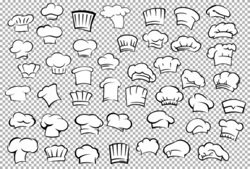 Chef toques and baker hats set