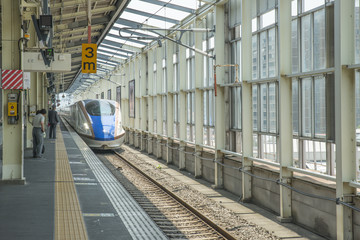 High-speed train in Tokyo station, Japan