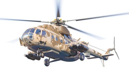 Russian Military Helicopter Mil Mi-8