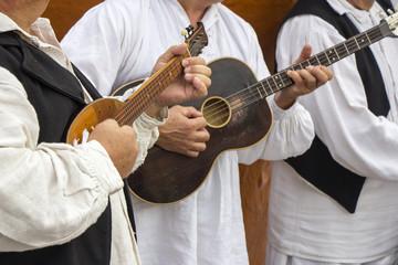 Croatian musicians in traditional Croatian folk costumes