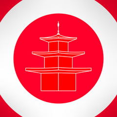 Buddhist pagoda or thailand temple. Vector