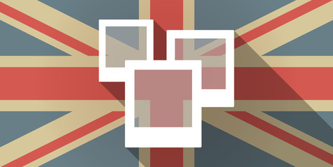UK flag icon with a photo bunch