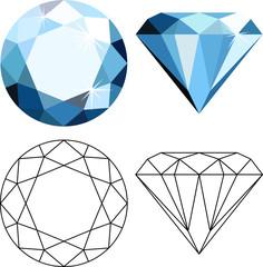 Flat style diamonds