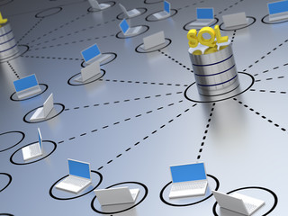 SQL Database within a network