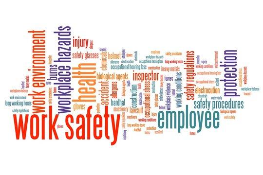 Work safety - word cloud