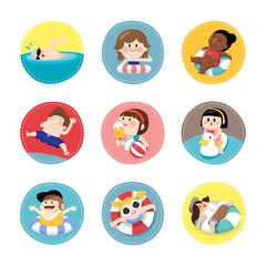 Children enjoying summer vacation