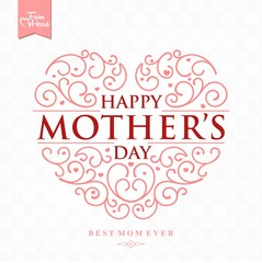 Beautiful Typographical Background For Mother's Day